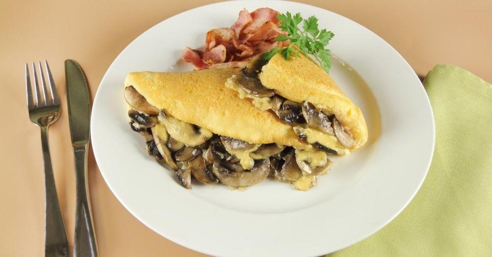 Mushroom And Bacon Omelette