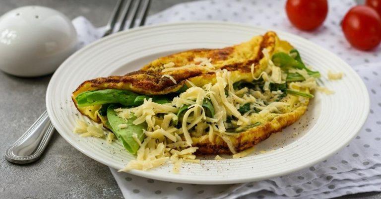 Parmesan Spinach Scrambled Eggs