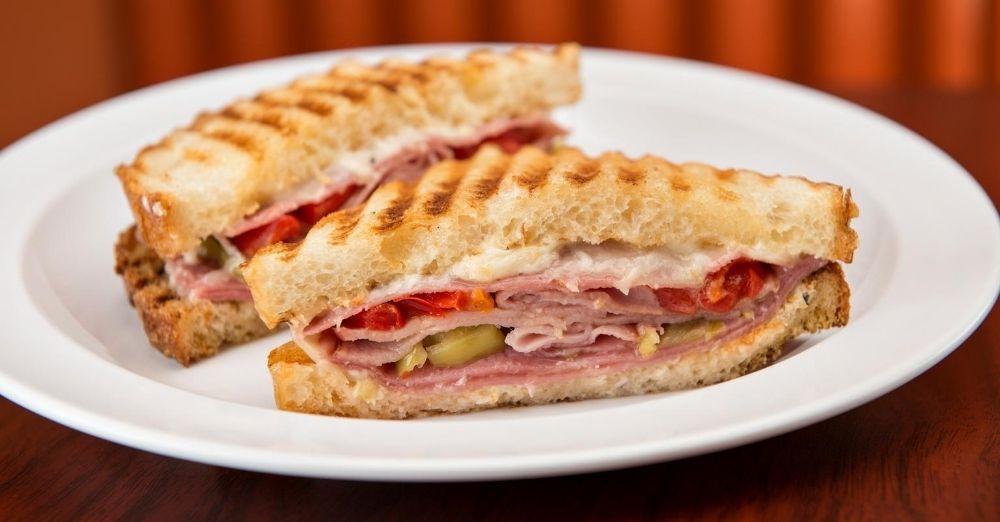 Provolone And Ham Sandwich