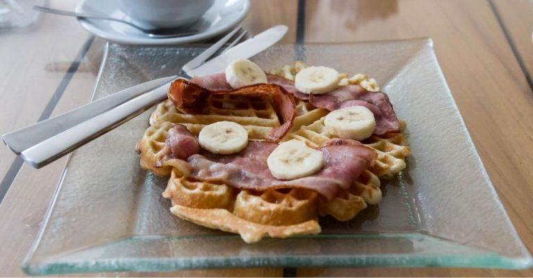 Swiss Bacon Waffles