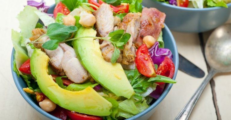 Sesame Chicken Avocado Salad