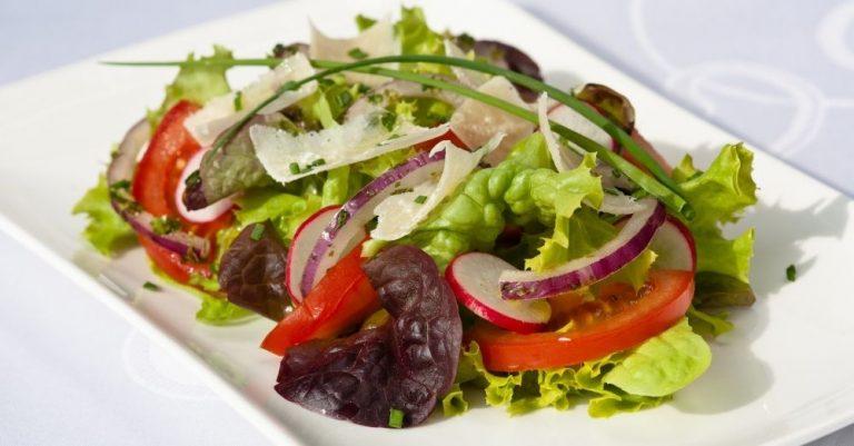 Spring Salad with Shaved Parmesan
