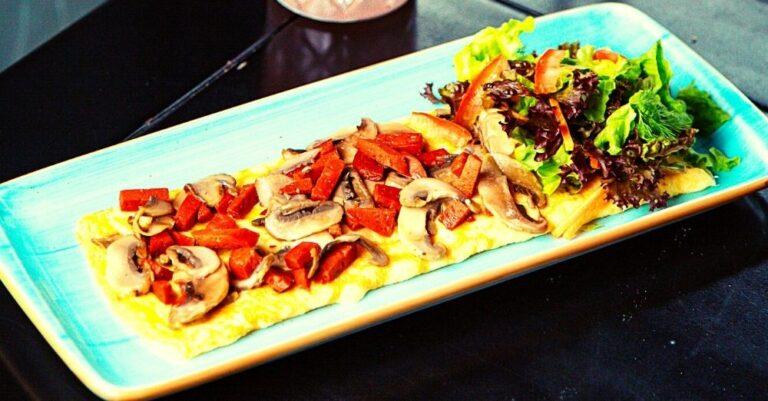 Cheddar, Sausage, and Mushroom Casserole