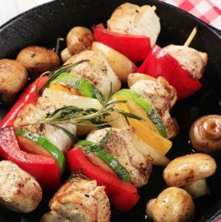 Chicken Kebabs with Veggies