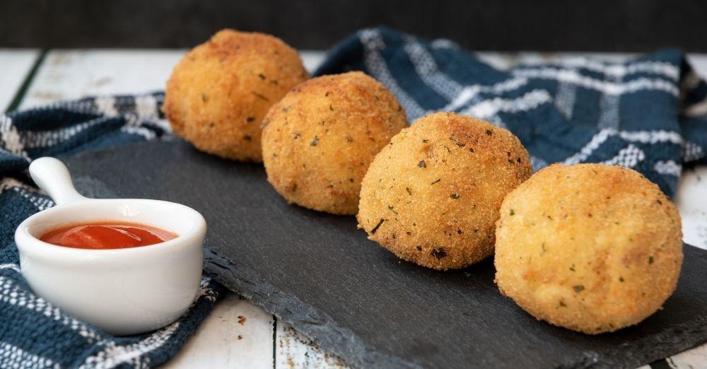 Fried Avocado Tuna Balls