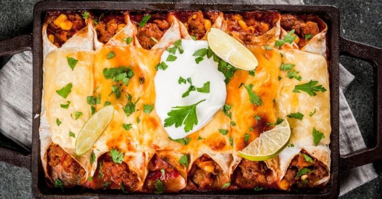 Spicy Chicken Enchilada Casserole