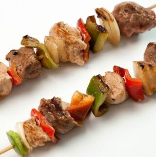 Steak Kebabs With Onions